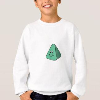 Niedliches glückliches grünes Dreieck Sweatshirt