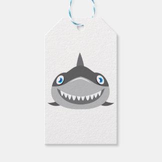 niedliches glückliches Haifischgesicht Geschenkanhänger