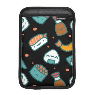 Niedliches glückliches nahtloses Sushimuster auf iPad Mini Sleeve