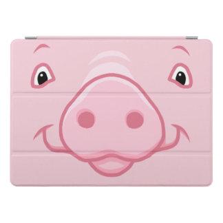 Niedliches glückliches rosa Schwein-Gesicht iPad Pro Cover