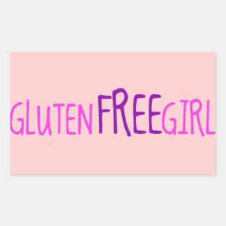 Niedliches Gluten geben Mädchen frei Rechteckiger Aufkleber