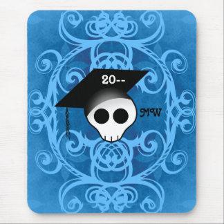 Niedliches gotisches Schädel-Abschlussmonogramm Mousepads