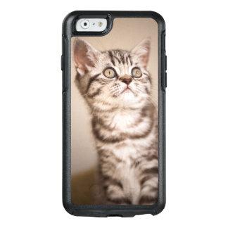 Niedliches graues britisches kurzes Haar-Kätzchen OtterBox iPhone 6/6s Hülle