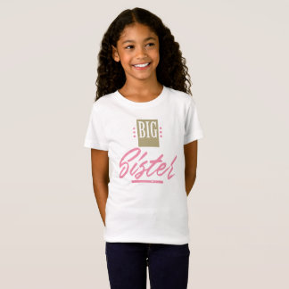 Niedliches große Schwester-T-Shirt - weißer bunter T-Shirt