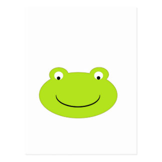 Niedliches grüner Frosch-Gesicht Postkarte