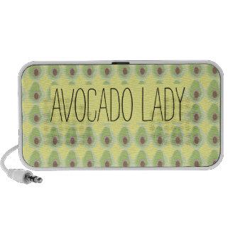 Niedliches grünes Avocado-Muster-Bio Vegetarier Mini Speaker