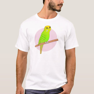 Niedliches grünes Budgie T-Shirt