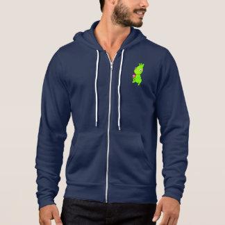 Niedliches grünes Monster Hoodie