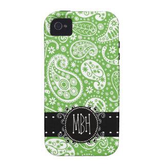 Niedliches grünes Paisley mit Personifizierung iPhone 4 Case