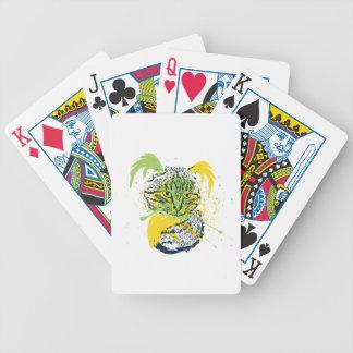 Niedliches Grunge-Katzen-Porträt Bicycle Spielkarten