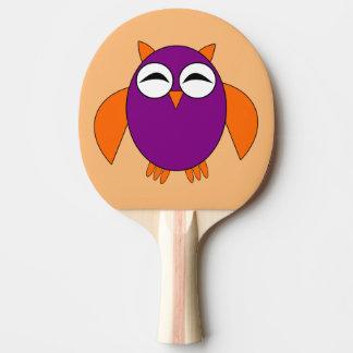 Niedliches Halloween-EulePing Pong Paddel Tischtennis Schläger