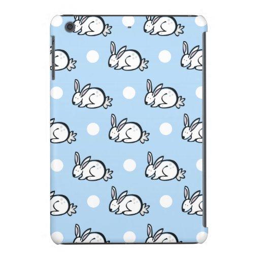Niedliches Häschen-Kaninchen; Baby-Blau-u. iPad Mini Hüllen