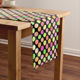Niedliches heißes Rosa-Limones grünes Mittelgroßer Tischläufer