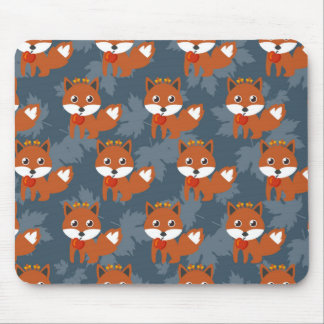 Niedliches Herbstfox-Muster Mousepad