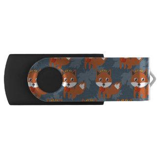Niedliches Herbstfox-Muster USB Stick