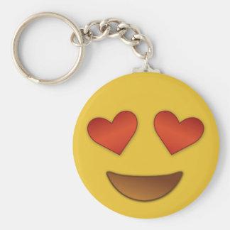Niedliches Herz für Augen emoji Schlüsselanhänger