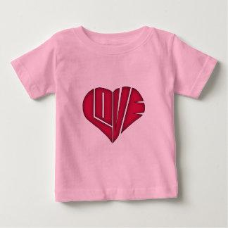 Niedliches Herz geformte LIEBE Baby T-shirt