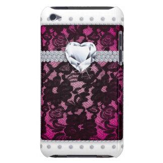 Niedliches Herz-Rosa Spitzeipod kaum dort Barely There iPod Cover