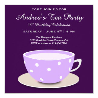 Niedliches hübsches Geburtstags-Tee-Party der Karte