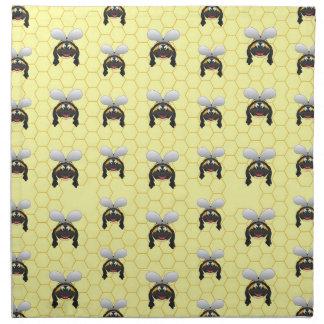 Niedliches Hummel-Bienen-Muster Stoffserviette