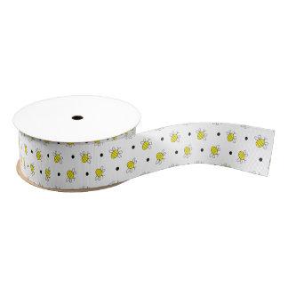 Niedliches Hummel-Bienen-Mustergrosgrain-Band Ripsband