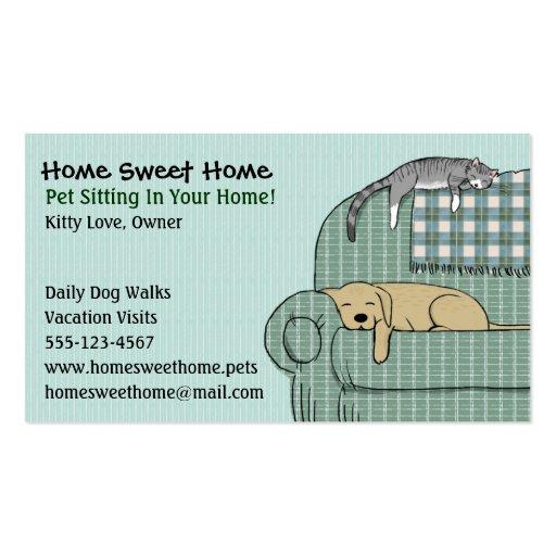 Niedliches Hunde-und Katzen-Haustier-Sitzen - Visitenkarten