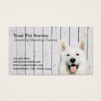 Niedliches Hundeholz Stripes Haustier-Salon/das Visitenkarte