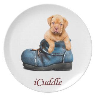 Niedliches iCuddle französischer Mastiff-Welpe Teller