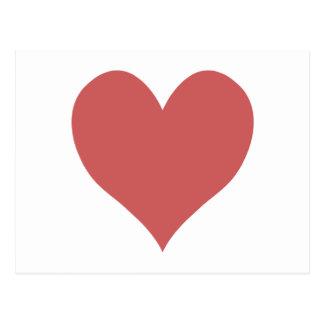 Niedliches indisches Rot-Herz Postkarte