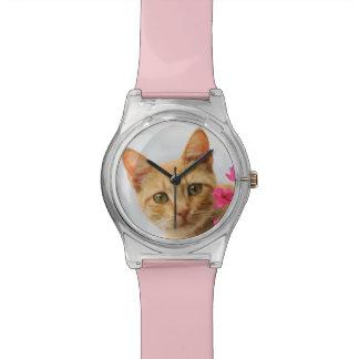 Niedliches Ingwer-Katzen-Kätzchen, das Sie Armbanduhr