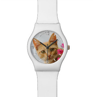 Niedliches Ingwer-Katzen-Kätzchen-Foto - Armbanduhr