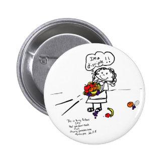 Niedliches inspirational runder button 5,1 cm