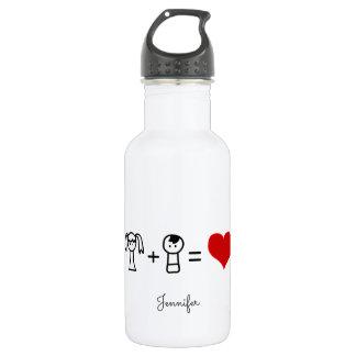 Niedliches Jungen- und Mädchen-Liebegekritzel Edelstahlflasche