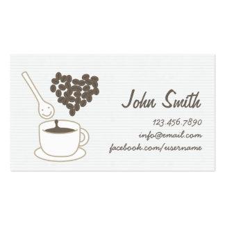 Niedliches Kaffee-Set-persönliche Visitenkarte