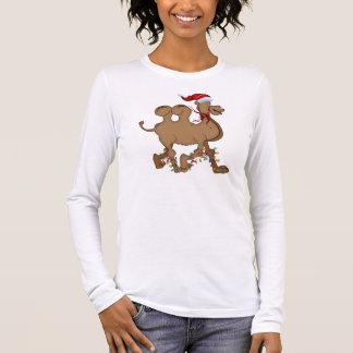 Niedliches Kamel-Buckel-Tagesweihnachten Langarm T-Shirt