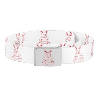 Niedliches Kaninchen mit niedlicher Text-Fahne I m Gürtel