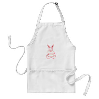 Niedliches Kaninchen mit niedlicher Text-Fahne I m Schürze