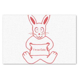 Niedliches Kaninchen mit niedlicher Text-Fahne I m Seidenpapier
