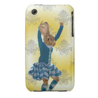 Niedliches Kaninchentanzen iPhone 3 Cover