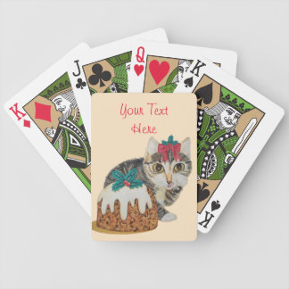 niedliches Kätzchen grauer Tabby, der Bicycle Spielkarten