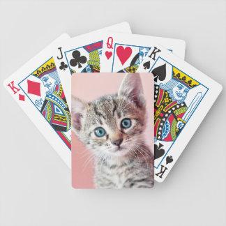 Niedliches Kätzchen mit blauen Augen Bicycle Spielkarten