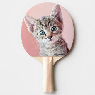 Niedliches Kätzchen mit blauen Augen Tischtennis Schläger