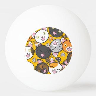 Niedliches Kätzchen Tischtennis Ball