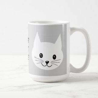 Niedliches Katzen-Gesicht Kaffeetasse