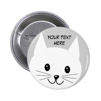 Niedliches Katzen-Gesicht Runder Button 5,1 Cm