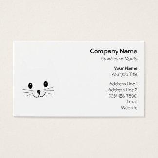 Niedliches Katzen-Gesicht Visitenkarten