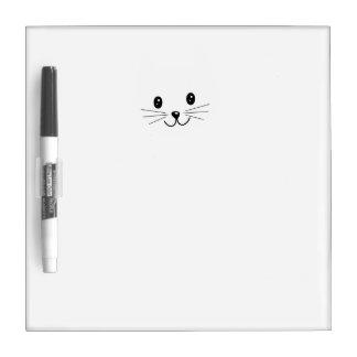 Niedliches Katzen-Gesicht Whiteboards