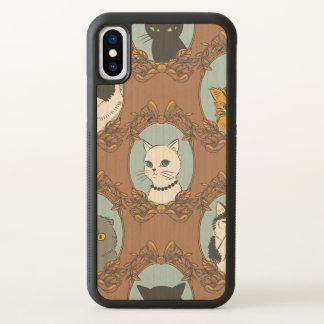 Niedliches Katzen-Muster iPhone X Hülle