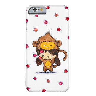 Niedliches Kawaii Affe-Mädchen Barely There iPhone 6 Hülle