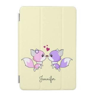 Niedliches kawaii foxes Cartoon in den rosa und iPad Mini Hülle
